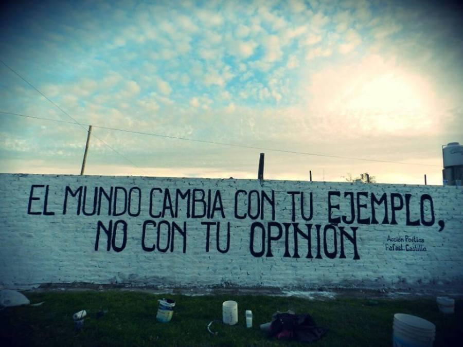il mondo cambia con il tuo esempio non con la tua opinione paulo coelho